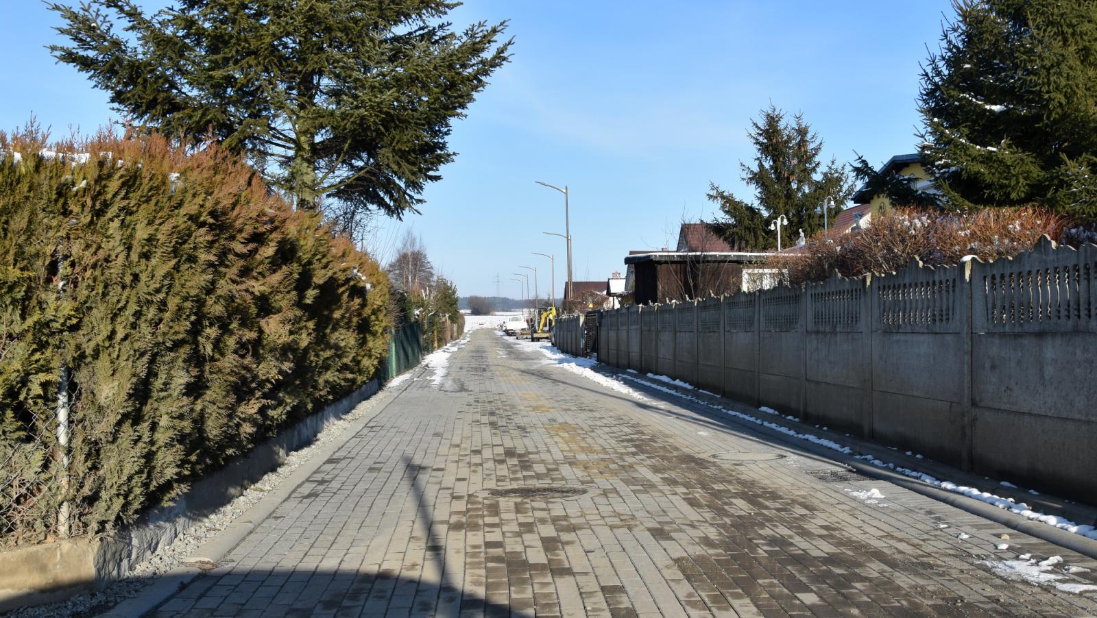 Odnoga ulicy Wesołej pod koniec robót budowlanych